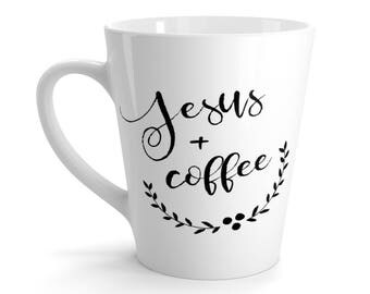 Jesus And Coffee Latte Mug