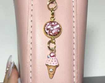 Ice-cream planner charm, Ice-cream TN charm, Ice-cream TN clip, Ice-cream charm