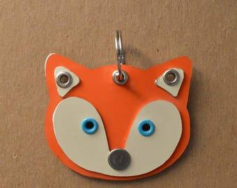 Fox Pet Tag Dog ID Metal
