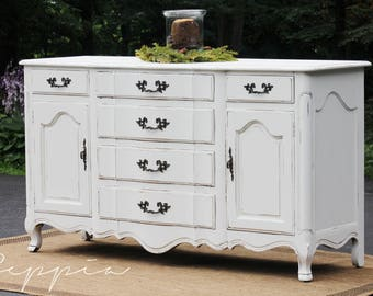 French Provincial Buffet Sideboard | Shabby Chic French Country