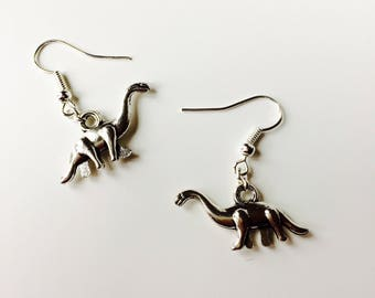 Diplodocus | Long Neck | Dinosaur | Jurassic World | Retro | Cute | Earrings