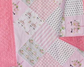 unicorns on pink crib bedding, custom bedding, crib bumpers, quilt, baby girl, crib skirt, crib sheet, custom bedding