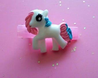 Pastel Kawaii Hair Clip - Fairy Kei Hair Accessories - Sweet Lolita - Pony Kawaii - Ddlg - Pastel Pony - Little Girl Hair Clip - Cute