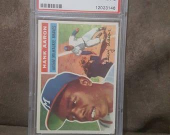 1956 Topps Hank Aaron #31 PSA NM-MT 8 Baseball Card