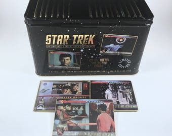 Star Trek Metal Collectors Cards, Metal Box, Vintage Trading Cards, 30th Anniversary Set, 20 Mint Cards, Numbered Set, Certificate Included