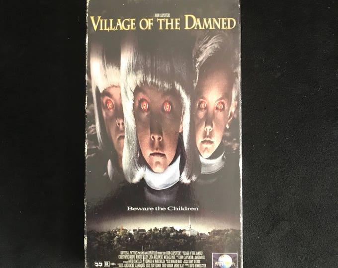 VILLAGE of the DAMNED John Carpenter 1980's Vintage Movie VHS