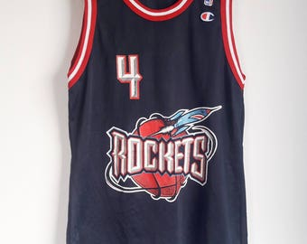 vintage 90s champion nba basketball houston rockets 4 charles barkley jersey  size 44 3307673ba