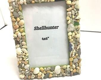 Beach Seashell picture frame, beach decor, picture frames, beach decor, photo frames, seashell picture frames,  beach bedroom decor,