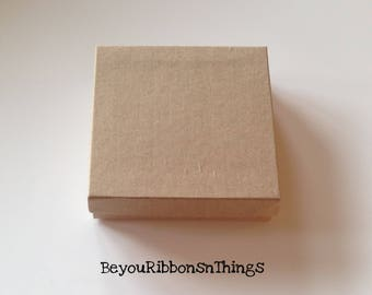 Small Gift Box - Square 3 1/2″ X 3 1/2″ X 1″H