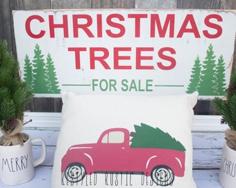 Christmas Trees For Sale Distressed Wood Sign, Happy Holidays, Merry Christmas, Christmas Decor, Rustic Wood Sign