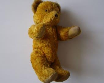 antique/vintage 1940's plush teddy bear / Teddy Bear Vintage / collectible Teddy Bear/old toy