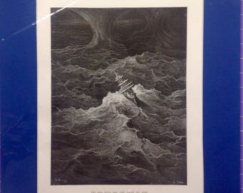 1st Edition 1876 Gustave Dore print 'The Rime of the Ancient Mariner'