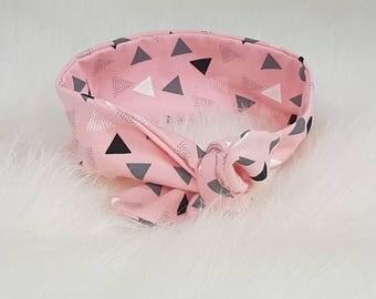 Knot Haarbandje Pink Triangles