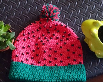 Watermelon hat.