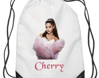 Ariana Grande Drawstring Swimming, School, PE Bag For Girls and Boys Personalised