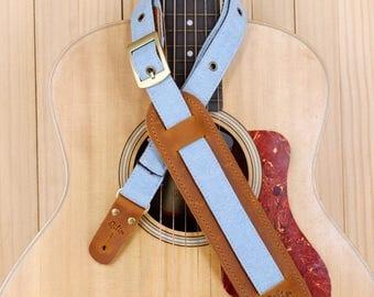 Light Blue Denim  - Vintage Guitarstrap