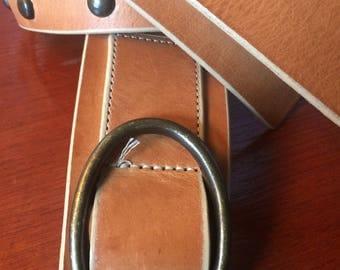 Tan leather belt - decorative rivets - GAP