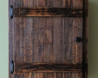 Recessed Wall Cabinet made from Rustic Reclaimed and Repurposed Pallet Wood
