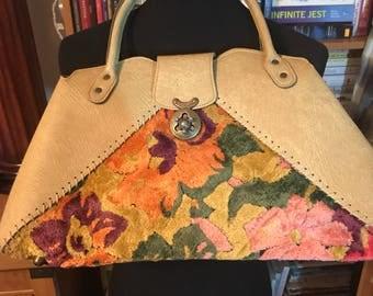 1970's Mahler Vinyl and Carpet Tote Bag