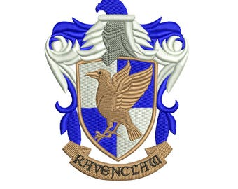 Harry Potter - Ravenclaw - Coat of Arms: Machine embroidery design