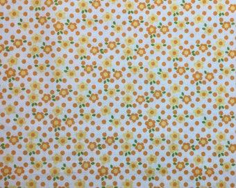 Fresh Market by Riley Blake.Orange & Yellow Flowers Retro Quilt Fabric