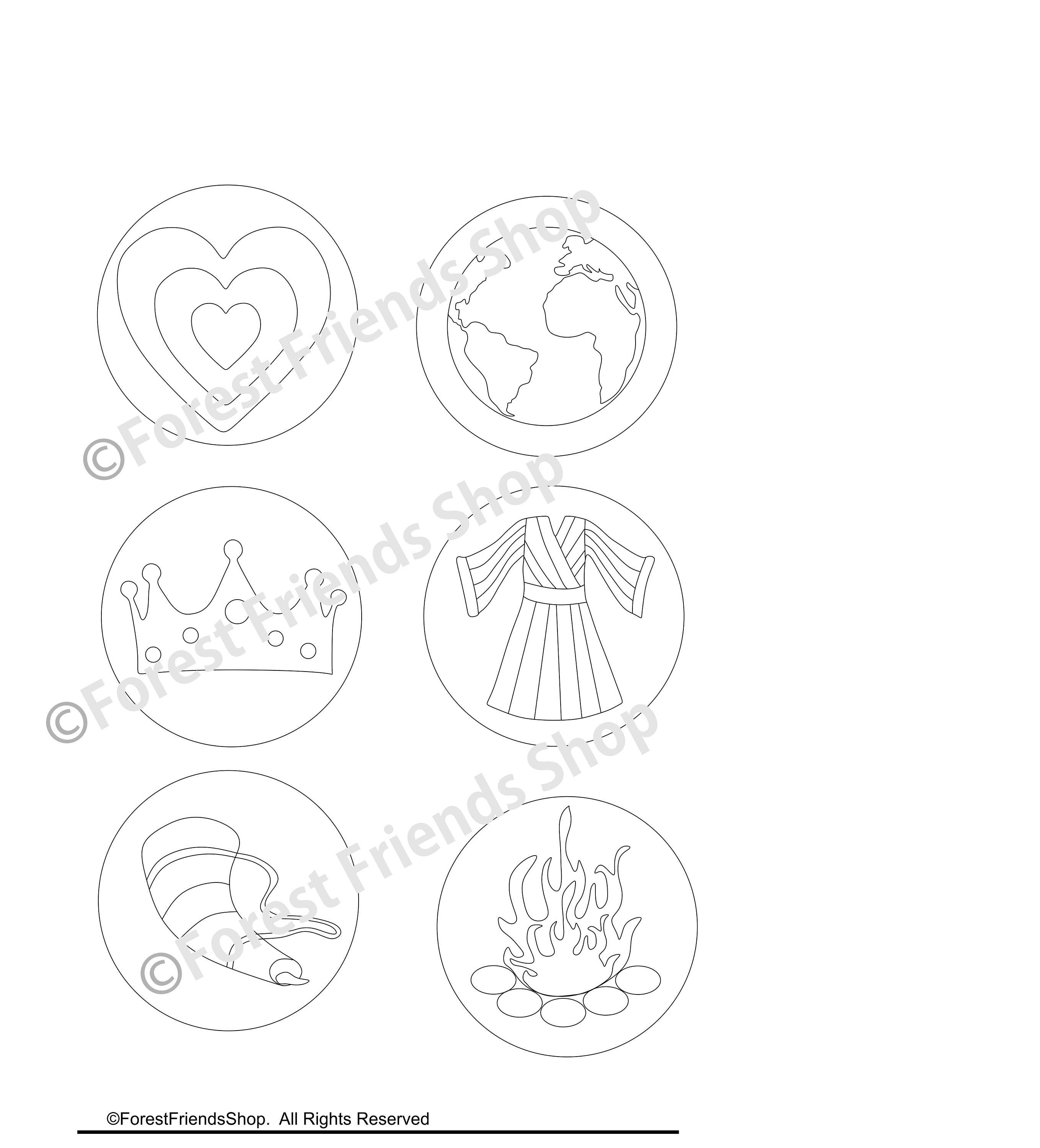 Printable Jesse Tree Ornaments Childrens Ornament Coloring Pages Advent Activity Kids Christmas Craft Sunday School