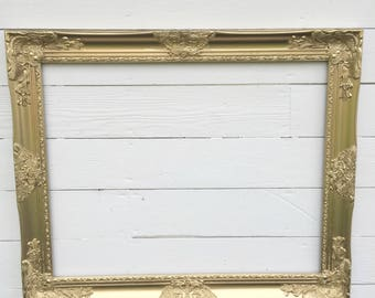 Gold Wall Frame, Baroque Wedding Photo Prop, Gallery Wall, Frame For Sale, Custom Colors, Ornate Wall Frame, Open Frame, Photo Prop