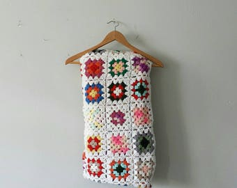 Granny Square Afghan, Colorful Throw Blanket, Couch Blanket, Granny Square Blanket, Colorful Blanket, Rainbow Blanket, Crochet Throw Blanket