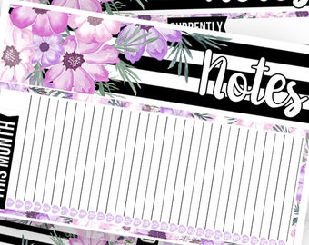 Wildflower Notes Pages Kit - Planner Stickers
