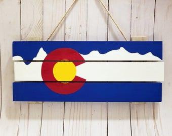 Colorado Flag painting wood pallet, Denver, Boulder, Colorado Springs, Aurora, CO