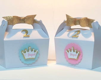 Princess Birthday Favor Box/ Princess Favor container/Princess Birthday Box