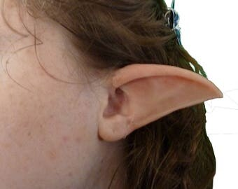 Long Elf Ear tips molded in silicone longer lasting and lifelike, several stock skintones