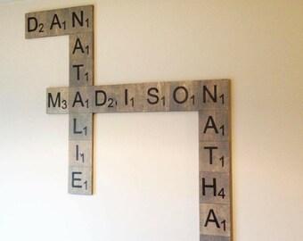 Wood Scrabble Pieces Squares