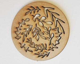 Botanical Cut out Coasters