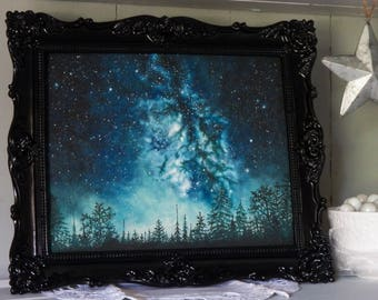 """8"""" x 10"""" Limited Edition Print   Closed set of 10   Titled 'Blanket of Stars'   Giclee   Galaxy Art   Space Art   Milky Way   Oil Painting"""