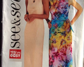 Spring and summer dress Butterick Easy See and Sew pattern