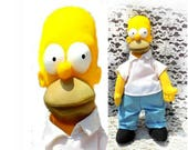 Homer Simpson doll -The Simpsons Collectible Character Doll - 1990 Homer Simpsons Rag Doll  -Homer collectible doll - Homer Simson -  # 9