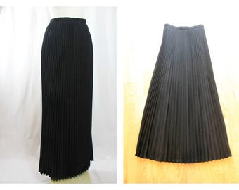 1950's Vintage Needle pleat Long Wool Skirt