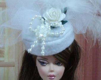 Chapeau N111 Mariage Mariée pour poupée Barbie