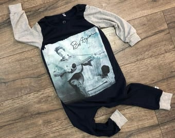Bob Dylan, baby rompers, handmade baby clothes, baby bodysuit, custom baby clothes, trendy toddler clothes, rock music