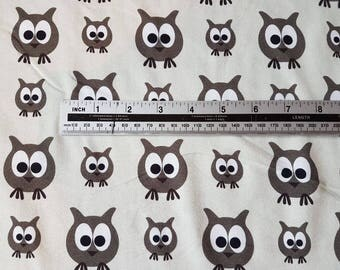 Owls JNY Organic Digital Print Cotton Lycra Jersey Knit Fabric