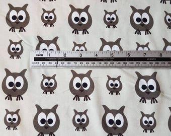 Owls JNY Organic Digital Print Cotton Lycra Jersey Knit Fabric