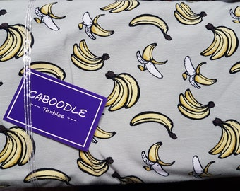 Bananas , Cotton Lycra Jersey Knit Fabric