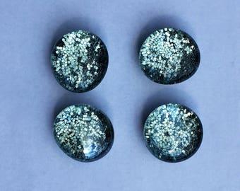 Silver Sparkle Magnets - Silver Glitter Magnets - Glittery Office Supplies - Silver Office Supplies - Silver Locker Supplies