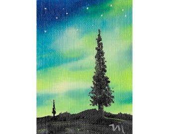 "Aceo Original Oil Painting ""Aura Play"""