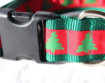 "1.5"" Christmas Tree Collar with Side Release Buckle (D-Ring Martingale Available)"
