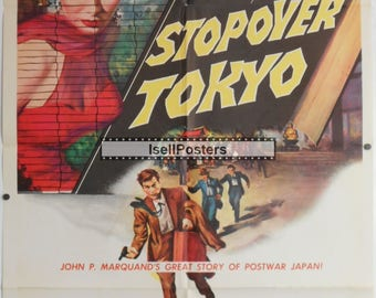 Stopover Tokyo - 1957 - Original US one sheet movie poster - Joan Collins