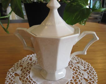 Independence Ironstone Interpace Sugar Bowl- Item #1614