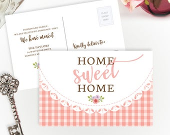 PRINTED Change of address cards cheap | Pack of 40 | Moving announcement | We've moved postcards | 4X6 moving cards | Home Sweet Home