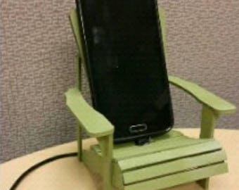 iPhone Adirondack Chair cell phone stand, laser cut, hand assembled, painted wood